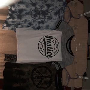 3 Justice shirt Lot